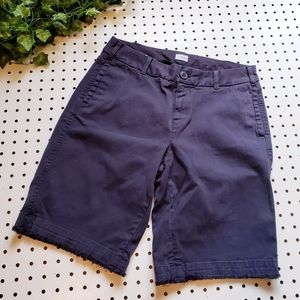 ECRU Bermuda Raw Hemmed Frayed Navy Short